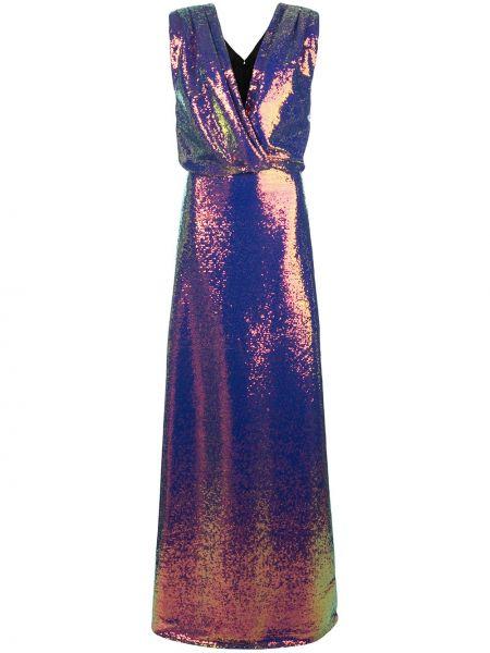 Платье с пайетками - фиолетовое Monique Lhuillier