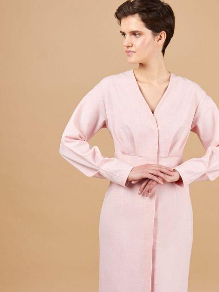 Платье миди с декольте со складками 12storeez