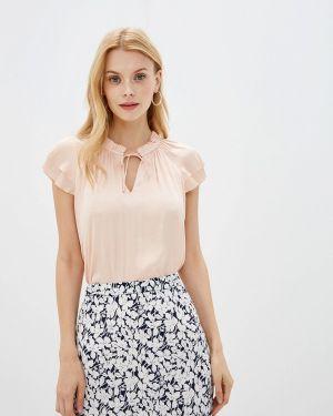 Блузка с коротким рукавом розовая весенний Banana Republic