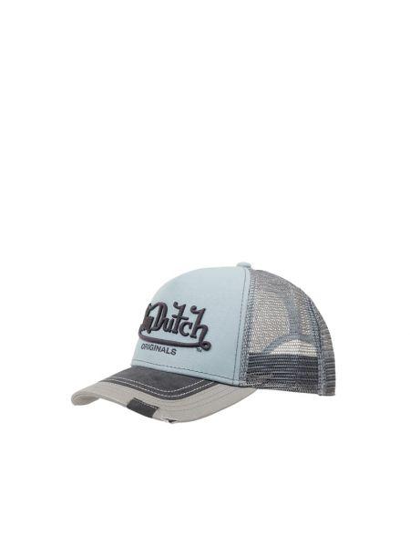 Niebieski bawełna bawełna czapka baseballowa Von Dutch