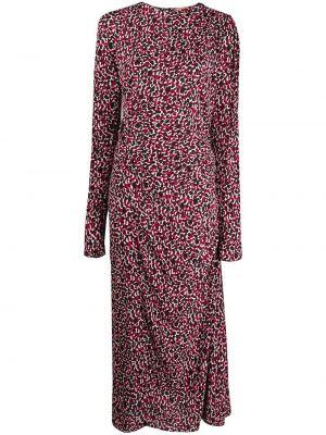 С кулиской розовое платье из вискозы N°21