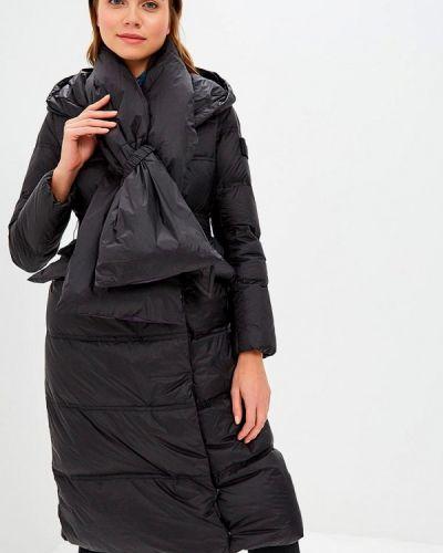 Зимняя куртка черная осенняя Clasna