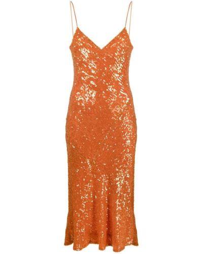 Pomarańczowa sukienka koktajlowa Galvan