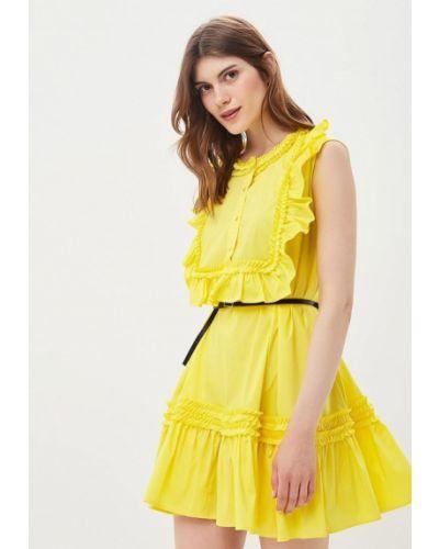 Желтое платье прямое Imperial