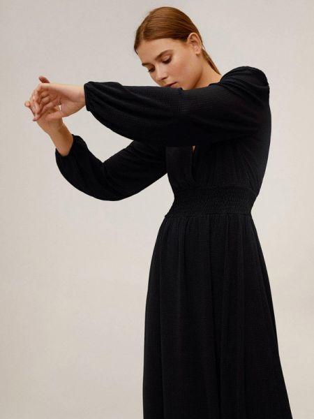 Платье прямое черное Mango