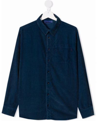 Niebieska koszula z długimi rękawami Molo Kids