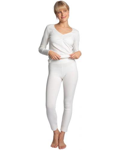 Białe legginsy Lalupa