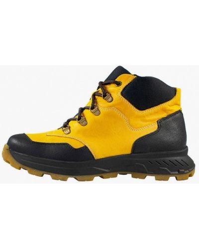Кожаные ботинки - желтые Mida