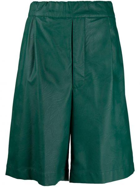 Зеленые хлопковые шорты с карманами Jejia