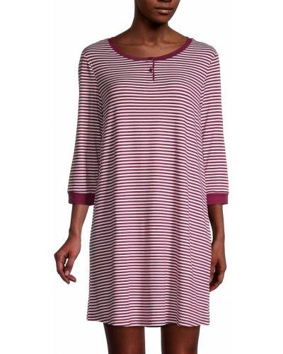 Fioletowa koszula nocna w paski Carole Hochman