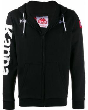 Куртка с капюшоном черная с манжетами Kappa