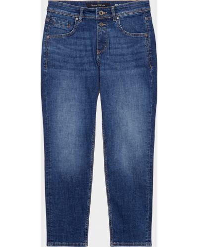 Хлопковые синие джинсы бойфренды на молнии Marc O'polo