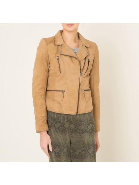 Кожаная куртка на молнии с манжетами с воротником с подкладкой Oakwood