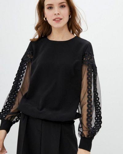 Черная блузка с длинными рукавами Zubrytskaya