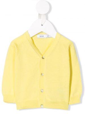 Желтый кардиган на пуговицах Knot