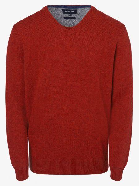 Sweter wełniany - pomarańczowy Andrew James