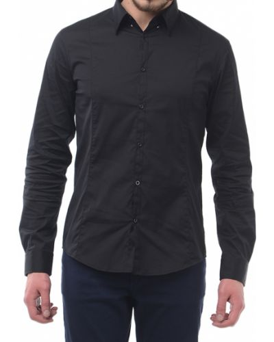 Черная рубашка хлопковая Armani Jeans