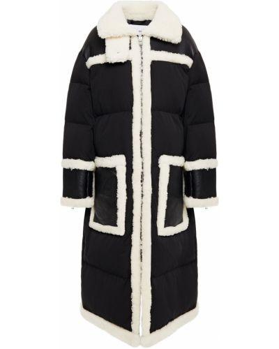 Стеганое черное пальто из овчины Stand Studio