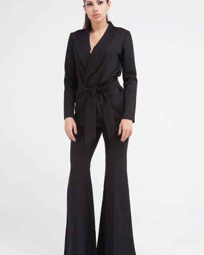 Черный брючный костюм Malaeva
