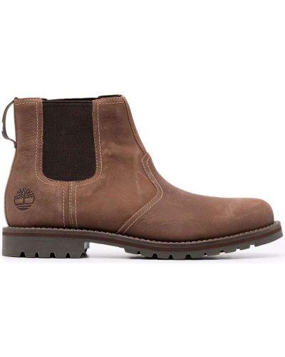 Замшевые ботинки челси - коричневые Timberland