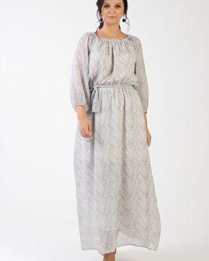 Летнее платье с поясом шифоновое Filigrana