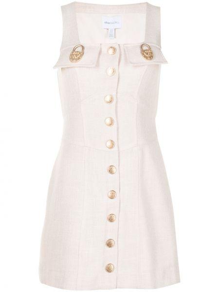 Золотистое платье мини с подкладкой с вырезом Alice Mccall