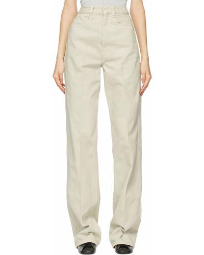 Mom jeans srebrne - niebieskie Lemaire