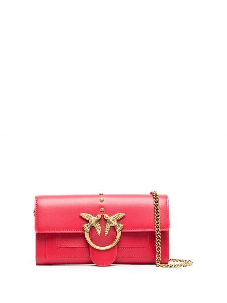Красный кожаный кошелек на молнии Pinko
