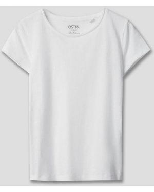Белая футбольная футболка с круглым вырезом с короткими рукавами Ostin
