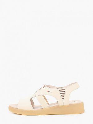 Бежевые кожаные сандалии Francesco Donni