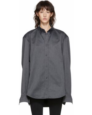 Рубашка с длинным рукавом в полоску с вышивкой Balenciaga
