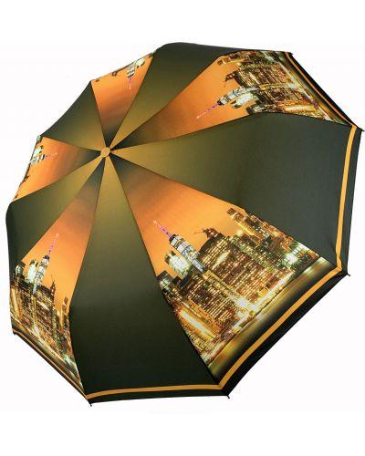 Городской серебряный автоматический зонт Flagman