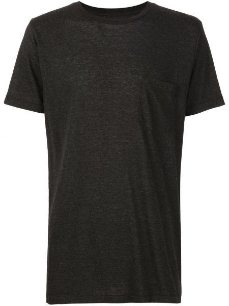 Хлопковая черная классическая футболка 321