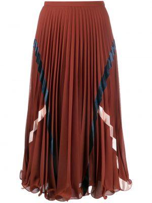 Коричневая с завышенной талией плиссированная юбка миди See By Chloé