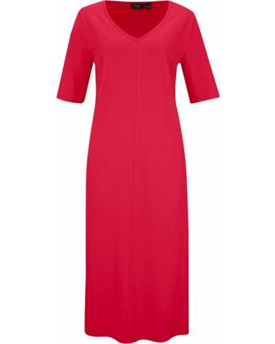 Трикотажное платье - красное Bonprix