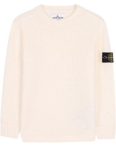 Белый свитер Stone Island