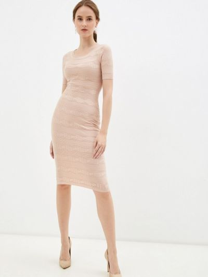 Бежевое зимнее платье Soky & Soka