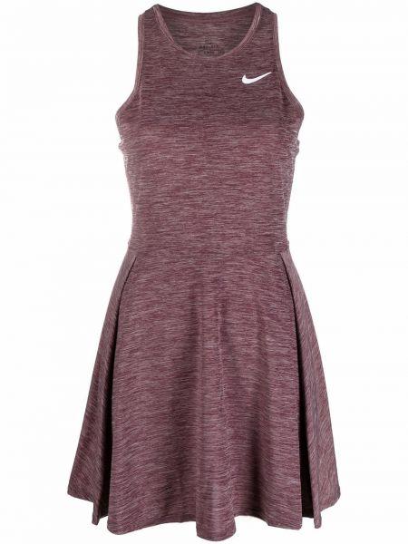 Красное теннисное платье мини Nike