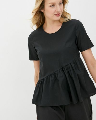 Черная блузка с оборками снежная королева