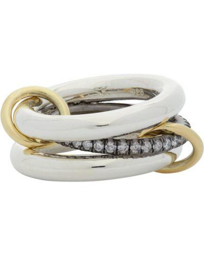 Z rombem biały pierścień z diamentem Spinelli Kilcollin