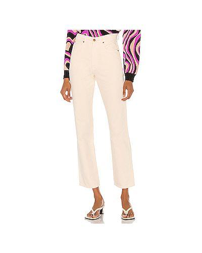 Хлопковые прямые джинсы с карманами на молнии узкого кроя Slvrlake