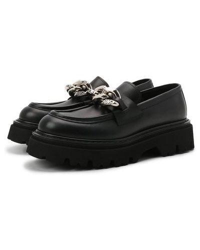 Черные итальянские туфли Casadei