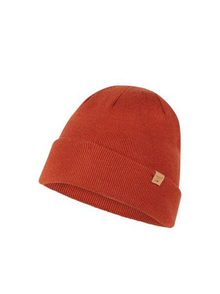 Prążkowana pomarańczowa czapka z wiskozy Barts