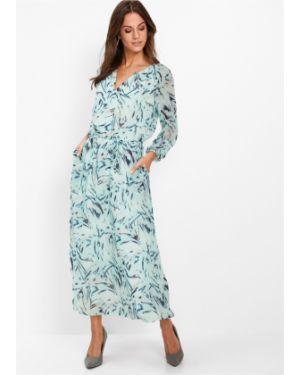Платье макси на пуговицах с цветочным принтом Bonprix