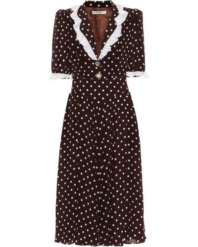 Коричневое шелковое вечернее платье Alessandra Rich