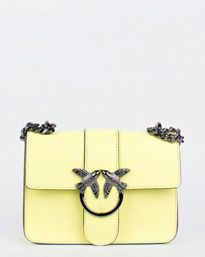 Кожаная сумка через плечо - желтая Bella Bertucci