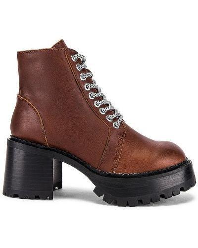 Кожаные полуботинки - коричневые Jeffrey Campbell