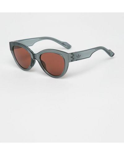 Солнцезащитные очки кошачий глаз серые Adidas Originals