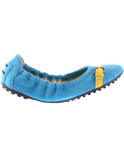 Niebieskie balerinki Tod's