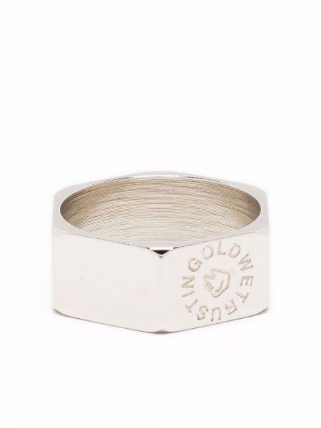 Złoty pierścionek In Gold We Trust Paris